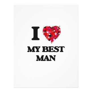 J'aime mon meilleur homme prospectus 21,6 cm x 24,94 cm