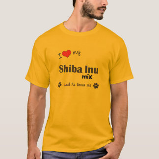 J'aime mon mélange de Shiba Inu (le chien T-shirt