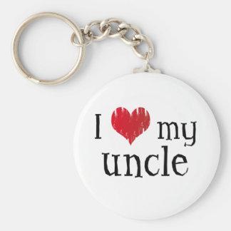 J'aime mon oncle porte-clé rond