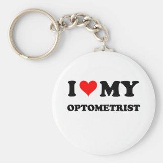 J'aime mon optométriste porte-clé rond
