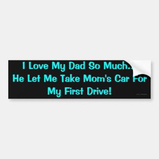 J'aime mon papa… autocollant pour voiture