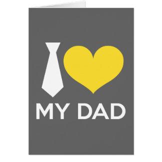 J'aime mon papa cartes