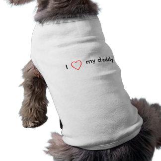 J'aime mon papa t-shirt pour chien