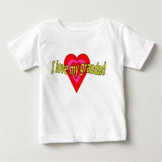 J'aime mon papy t-shirt pour bébé