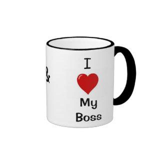 J'aime mon patron que mon patron m'aime - tasse de