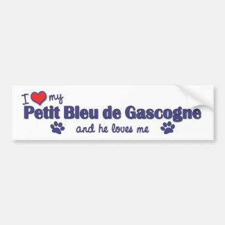 J'aime mon Petit Bleu de Gascogne (le chien mascul Autocollant De Voiture