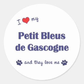 J'aime mon Petit Bleus de Gascogne (les chiens mul Adhésif Rond