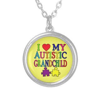 J'aime mon petit-enfant autiste colliers personnalisés