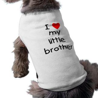 J'aime mon petit frère t-shirt pour chien