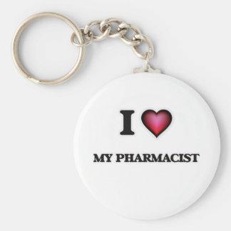J'aime mon pharmacien porte-clés