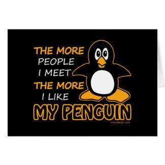 J'aime mon pingouin cartes