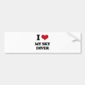 J'aime mon plongeur de ciel autocollant pour voiture