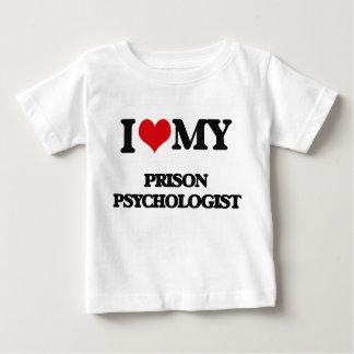J'aime mon psychologue de prison t-shirt pour bébé