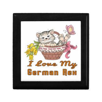 J'aime mon Rex allemand Petite Boîte À Bijoux Carrée