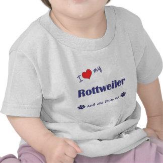 J'aime mon rottweiler (le chien femelle) t-shirt