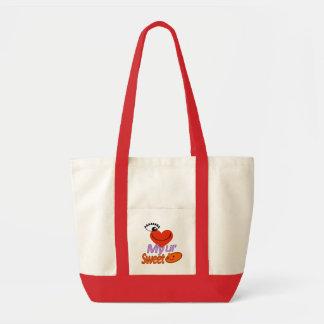 J'aime mon sac fourre-tout à baby shower de patate