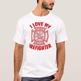 J'aime mon sapeur-pompier t-shirt
