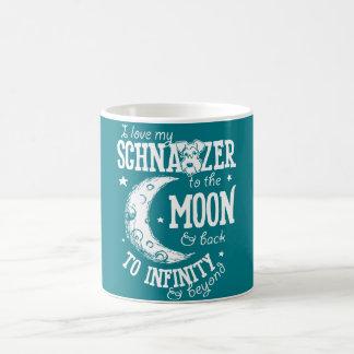 J'aime mon Schnauzer dans la lune et la tasse