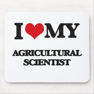 J'aime mon scientifique agricole tapis de souris