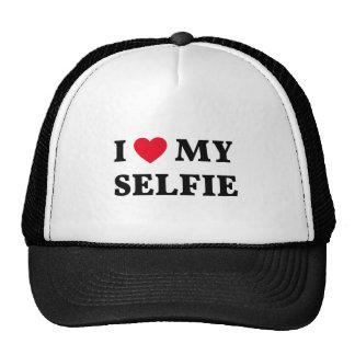 J'aime mon selfie, art de mot, conception des text casquettes de camionneur