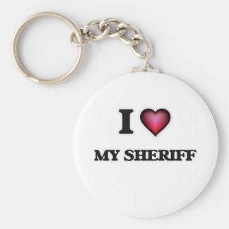 J'aime mon shérif porte-clés