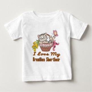 J'aime mon Shorthair brésilien T-shirt Pour Bébé