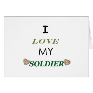 J'aime mon soldat 2 cartes