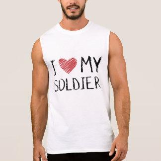 J'aime mon soldat t-shirt sans manches