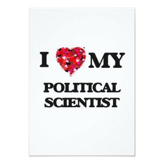 J'aime mon spécialiste des Sciences Politiques Carton D'invitation 12,7 Cm X 17,78 Cm