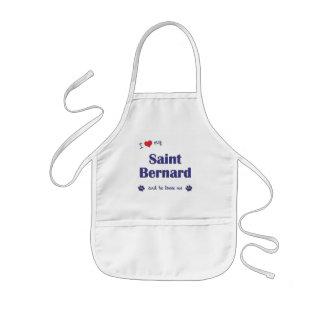 J'aime mon St Bernard (le chien masculin) Tablier