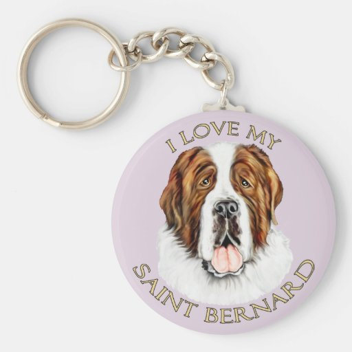 J'aime mon St Bernard Porte-clé