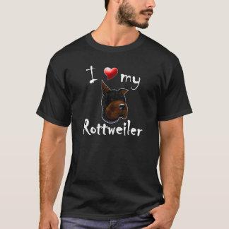 J'aime mon T-shirt de rottweiler