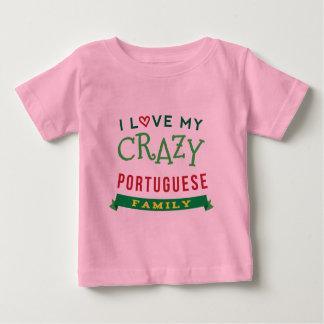J'aime mon T-shirt portugais fou de la Réunion de