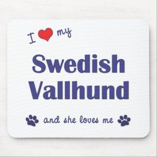 J'aime mon Vallhund suédois (le chien femelle) Tapis De Souris
