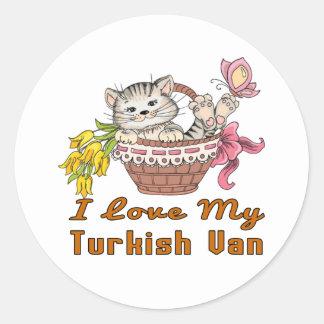 J'aime mon Van turc Sticker Rond