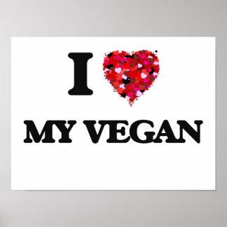J'aime mon végétalien poster