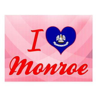 J'aime Monroe, Louisiane Carte Postale