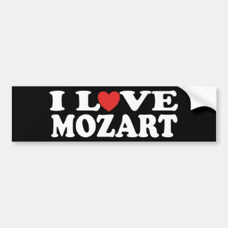J'aime Mozart Autocollant De Voiture