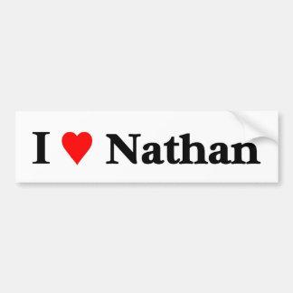 J'aime Nathan Autocollants Pour Voiture