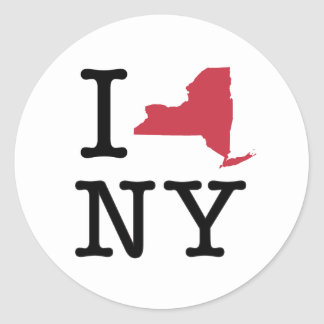 J'aime New York Sticker Rond