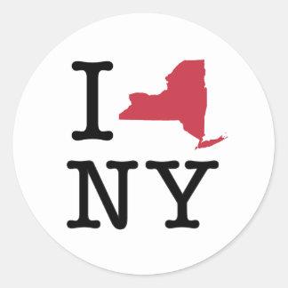 J'aime New York Sticker Rond