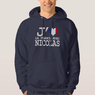 J'aime Nicolas - Election presidentielle Veste À Capuche