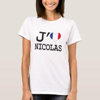 J'aime Nicolas T-shirt