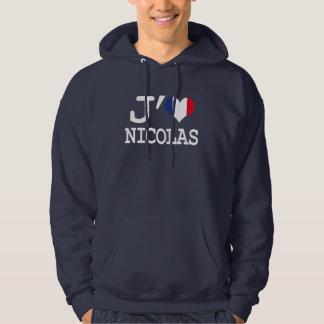 J'aime Nicolas Veste À Capuche