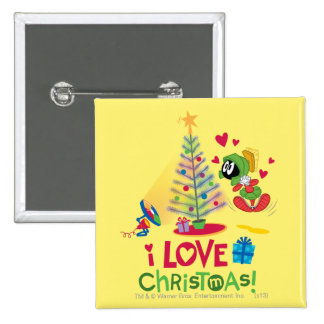J'aime Noël - MARVIN le MARTIAN™ Pin's Avec Agrafe