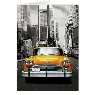 J'aime NYC - taxi de New York Carte De Vœux