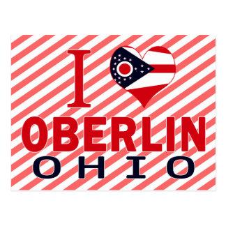 J'aime Oberlin, Ohio Carte Postale