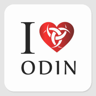 J'aime Odin Sticker Carré