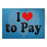 J'aime payer carte de vœux