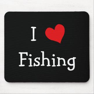 J'aime pêcher tapis de souris